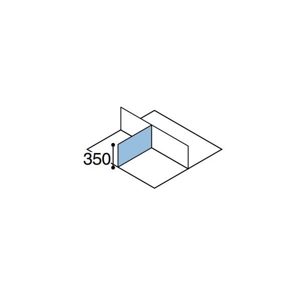ワークフィット オプション デスクトップパネル サイド用 奥行600mm【SDV-WF63S】