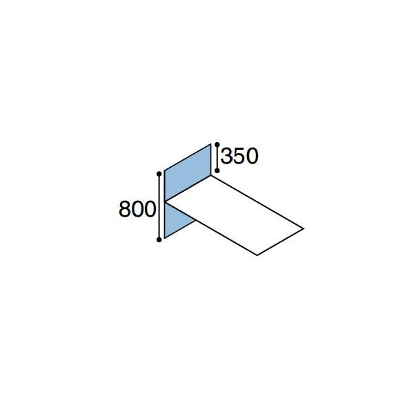 ワークフィット オプション デスクトップパネル 片面エンド用 奥行800mm【SDV-WF88E】