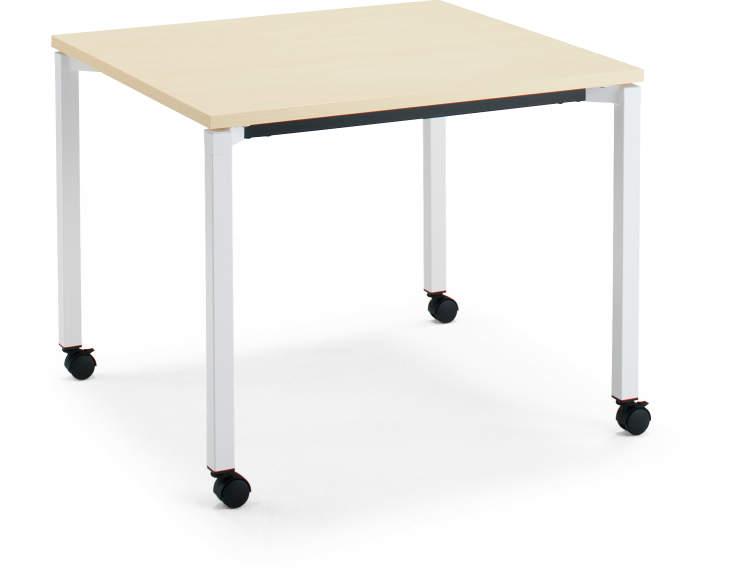コクヨ ジュート(JUTO) ミーティング用テーブル(4本脚 角脚・正方形天板) キャスター付き スクエアエッジ 幅900×奥行900×高さ720mm【MT-JTK99-C】