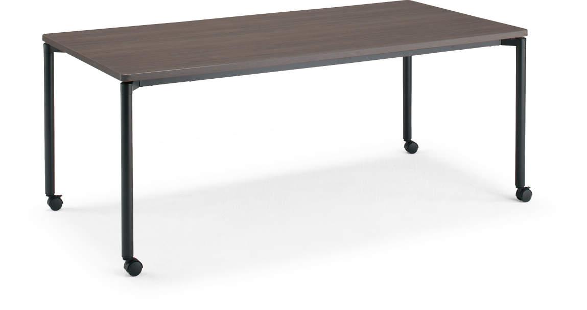 コクヨ ジュート(JUTO) ミーティング用テーブル(4本脚 丸脚・角形天板) キャスター付き ラウンドエッジ 幅1800×奥行900×高さ720mm【MT-JTMR189-C】