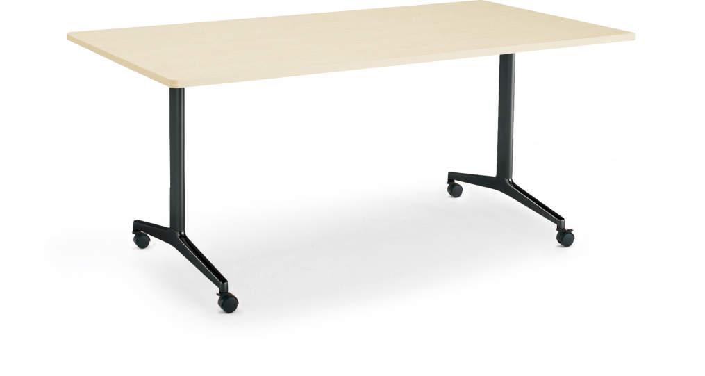 コクヨ ジュート(JUTO) ミーティング用テーブル(T字脚・角形天板) キャスター付き 幅1200×奥行900×高さ720mm スクエアエッジ【MT-JTT129-C】