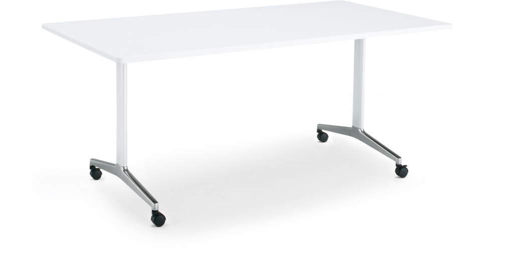コクヨ ジュート(JUTO) ミーティング用テーブル(T字脚・角形天板) ポリッシュ脚 キャスター付き 幅1200×奥行900×高さ720mm ラウンドエッジ【MT-JTTR129P-C】