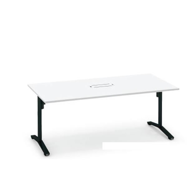コクヨ ビエナ VIENA 配線ボックス付き 角形テーブル(T字脚) ポリッシュ脚タイプ 幅1500×奥行750×高さ720mm【MT-V157BPM】