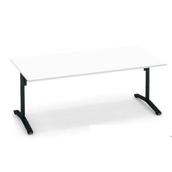 コクヨ ビエナ VIENA フラップタイプ 角形テーブル(T字脚) ポリッシュ脚タイプ 幅1200×奥行900×高さ720mm【MT-V129FPM】