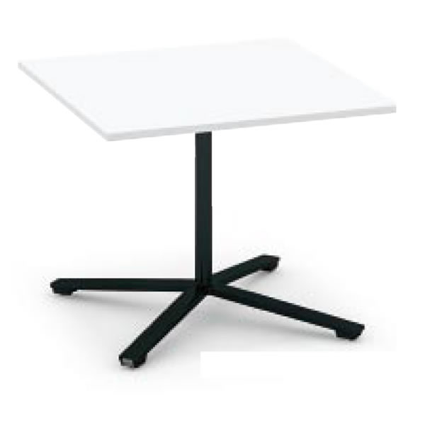 コクヨ ビエナ VIENA フラップタイプ 正方形テーブル(単柱脚) ポリッシュ脚タイプ 幅750×奥行750×高さ720mm【MT-V77FPM】