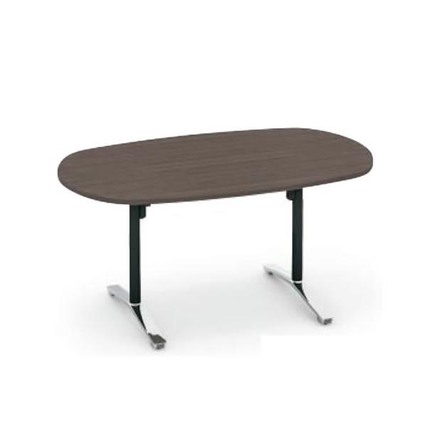 コクヨ ビエナ VIENA 配線ボックスなし 楕円形テーブル(T字脚) ポリッシュ脚タイプ 幅1800×奥行900×高さ720mm【MT-VD189PM】