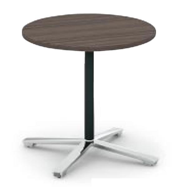 コクヨ ビエナ VIENA フラップタイプ 円形テーブル(単柱脚) ポリッシュ脚タイプ 幅750×奥行750×高さ720mm【MT-VE7FPM】