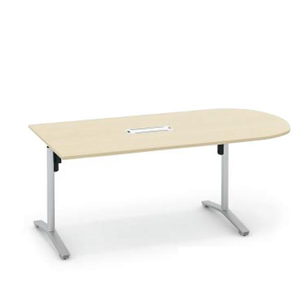 コクヨ ビエナ VIENA 配線ボックス付き U字形テーブル(T字脚) 塗装脚タイプ 幅1800×奥行900×高さ720mm【MT-VU189B】