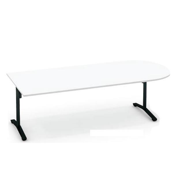 コクヨ ビエナ VIENA 配線ボックスなし U字形テーブル(T字脚) 塗装脚タイプ 幅2400×奥行1050×高さ720mm【MT-VU241】