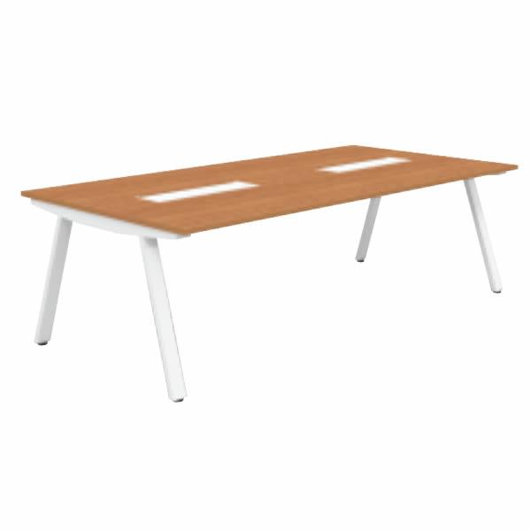 フリースタイルオフィス ジェネラ ミーティングテーブル 幅2400×奥行1225×高さ720mm【GE-2412M】