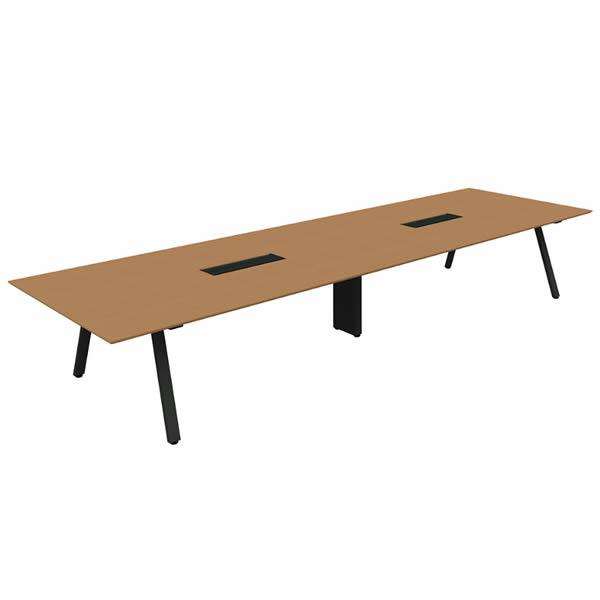 フリースタイルオフィス ジェネラ カンファレンステーブル 幅4800×奥行1400×高さ720mm (664-465)【GE-4814C】