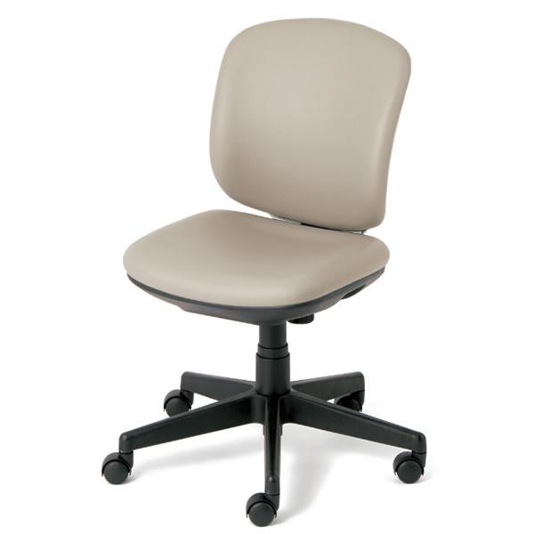オフィスチェア プリセア ホワイトシェル ビニルレザータイプ ローバック 肘なし【KC-K56NL】