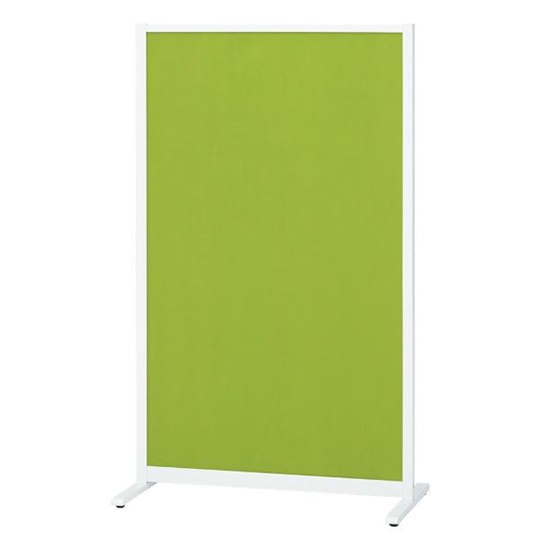 パーティションホワイトボード(片面掲示板タイプ) アジャスタータイプ 掲示面カラーグリーン 幅907×奥行490×高さ1500mm (428-048)【KWC-0915BSA-GR】