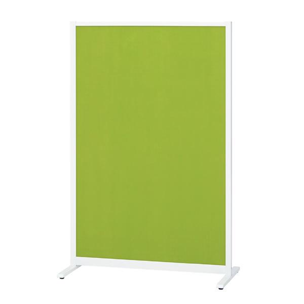 パーティションホワイトボード(片面掲示板タイプ) アジャスタータイプ 掲示面カラーグリーン 幅1207×奥行490×高さ1500mm (428-049)【KWC-1215BSA-GR】
