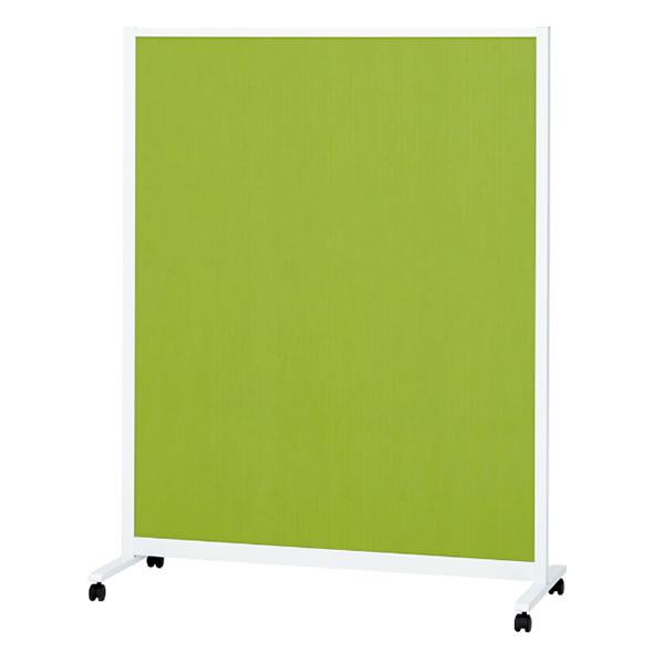パーティションホワイトボード(片面掲示板タイプ) キャスタータイプ 掲示面カラーグリーン 幅1207×奥行490×高さ1540mm (428-047)【KWC-1215BSK-GR】