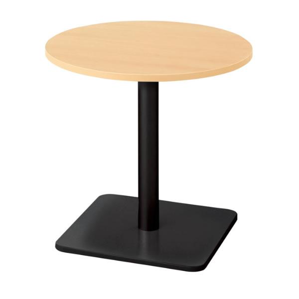 ronna ロンナ テーブル 丸形 ベース脚タイプ ミドルポジション 幅750×奥行750×高さ720mm【NN-0707BC】