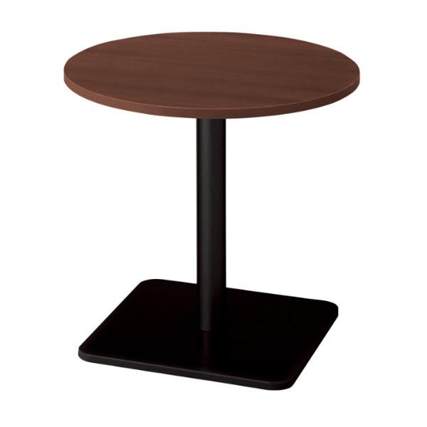 ronna ロンナ テーブル 丸形 ベース脚タイプ ミドルポジション マホガニー色天板 幅750×奥行750×高さ720mm(677857)【NN-0707BC-LM】