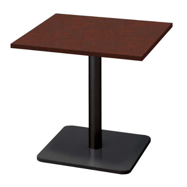ronna ロンナ テーブル 正方形 ベース脚タイプ ミドルポジション マホガニー色天板 幅750×奥行750×高さ720mm(677856)【NN-0707BS-LM】
