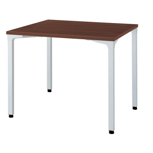 ronna ロンナ テーブル 正方形 4本脚アジャスタータイプ マホガニー色天板 幅900×奥行900×高さ720mm【NN-0909PAS-LM】