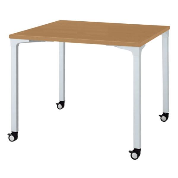 ronna ロンナ テーブル 正方形 4本脚キャスタータイプ 幅900×奥行900×高さ720mm【NN-0909PKS】
