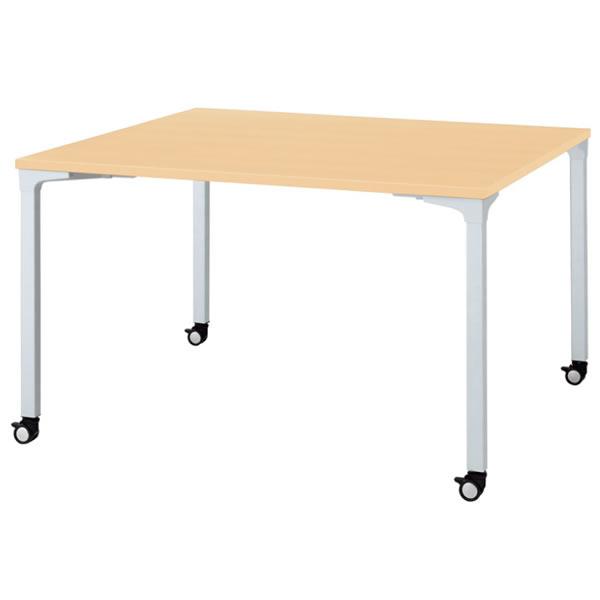 ronna ロンナ テーブル 正方形 4本脚キャスタータイプ 幅1200×奥行1200×高さ720mm【NN-1212PKS】