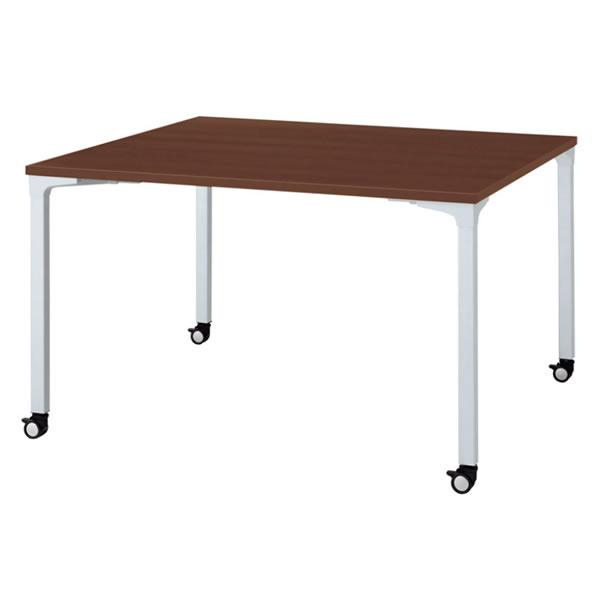 ronna ロンナ テーブル 正方形 4本脚キャスタータイプ マホガニー色天板 幅1200×奥行1200×高さ720mm【NN-1212PKS-LM】