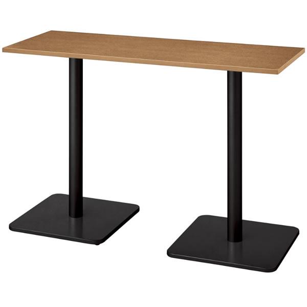 ronna ロンナ テーブル 長方形 ベース脚タイプ ハイポジション 幅1500×奥行550×高さ1000mm【NN-1505BHR】