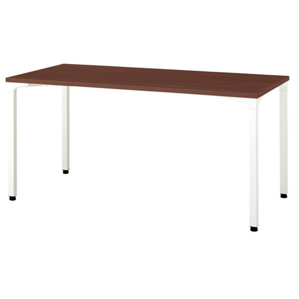 ronna ロンナ テーブル 長方形 4本脚アジャスタータイプ マホガニー色天板 幅1500×奥行750×高さ720mm【NN-1507PAR-LM】