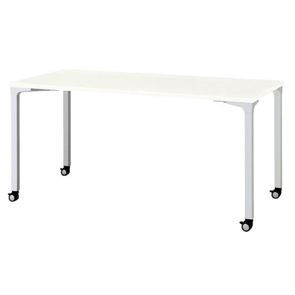ronna ロンナ テーブル 長方形 4本脚キャスタータイプ 幅1500×奥行750×高さ720mm【NN-1507PKR】