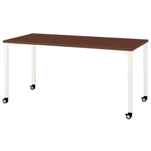 ronna ロンナ テーブル 長方形 4本脚キャスタータイプ マホガニー色天板 幅1500×奥行750×高さ720mm【NN-1507PKR-LM】