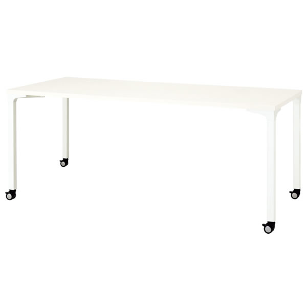 ronna ロンナ テーブル 長方形 4本脚キャスタータイプ 幅1800×奥行750×高さ720mm【NN-1807PKR】