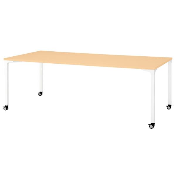 ronna ロンナ テーブル 長方形 4本脚キャスタータイプ 幅2100×奥行1000×高さ720mm【NN-2110PKR】