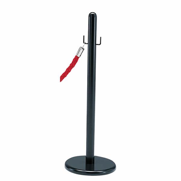 ロープパーティション用ポール(1本) ブラック 【国産】【RP-T1】