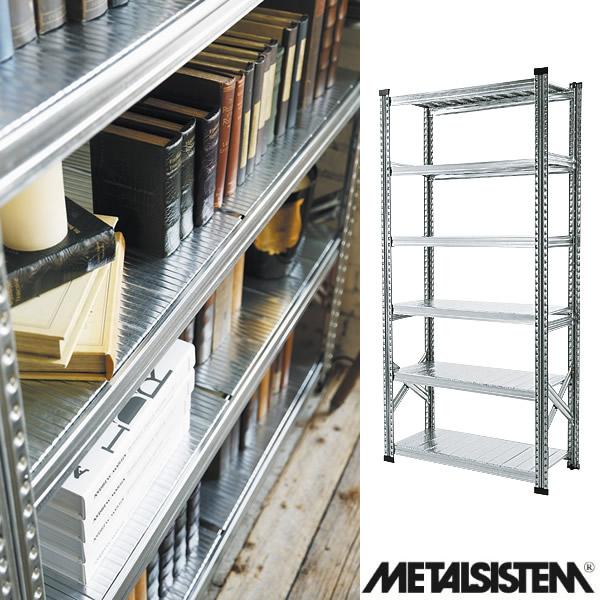 メタルシステム/METALSISTEM スチールシェルフ 6段 幅900mm 6ティア (Q1872)【Y-001869】