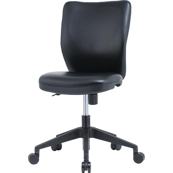 オフィスチェア PVCタイプ ブラック【HC-P102BK】
