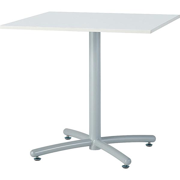 【HTS】ミーティングテーブル(ホワイト脚) 角型 幅750×奥行き750mm【HTS-W750K】