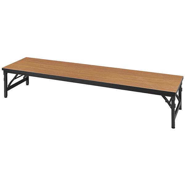 バネ開閉ワイド脚テーブル ロータイプ(座卓) 幅1800×奥行450mm【KBS1845L】