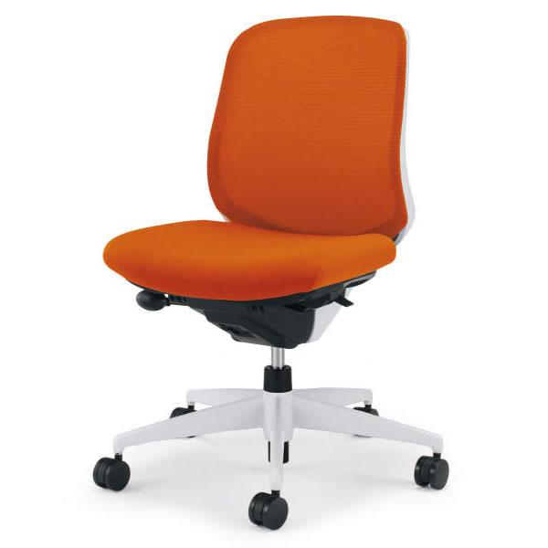 コクヨ シロッコ(Scirocco) オフィスチェア ローバック 肘なし(ランバーサポートなし) 背座別色 樹脂脚(ホワイト/クリーンテクトコーティング)【CR-GW2600E1C】