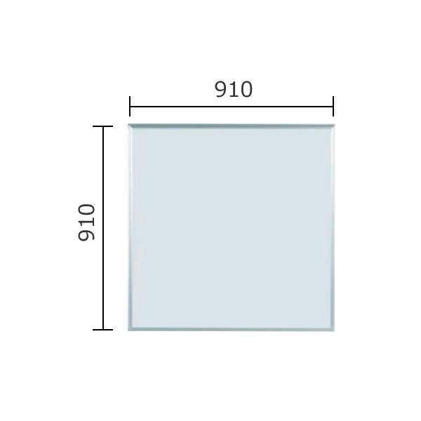 マジシリーズ 壁掛無地ホワイトボード ホーロータイプ 910×910mm【MH33】