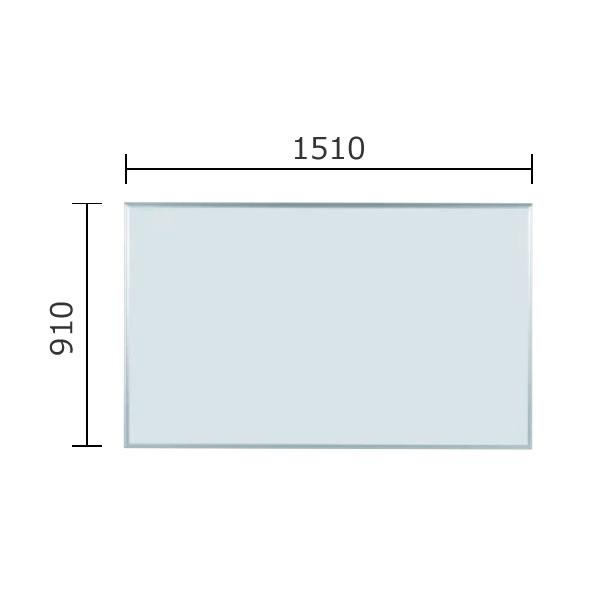 マジシリーズ 壁掛無地ホワイトボード ホーロータイプ 1510×910mm【MH35】
