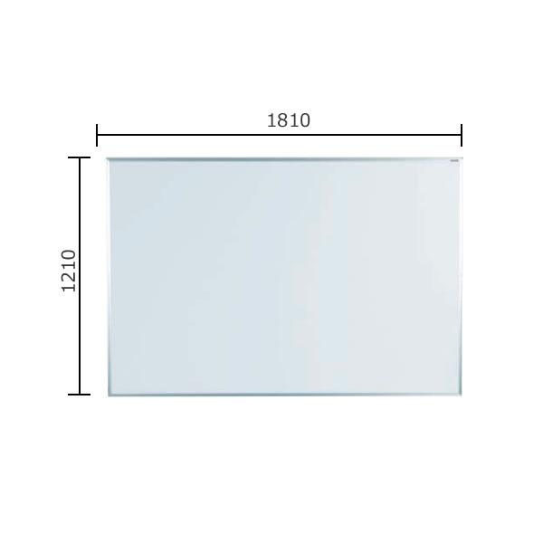マジシリーズ 壁掛無地ホワイトボード ホーロータイプ 1810×1210mm【MH46】
