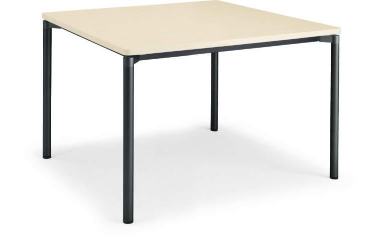 コクヨ ジュート(JUTO) ミーティング用テーブル(4本脚 丸脚・正方形天板) ラウンドエッジ 幅900×奥行900×高さ720m【MT-JTMR99】