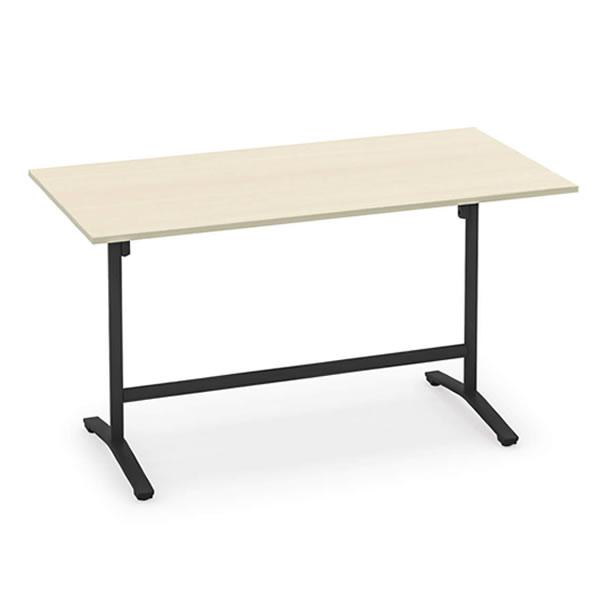 コクヨ ビエナ VIENA 配線ボックスなし 角形テーブル(T字脚) ハイタイプ ポリッシュ脚タイプ 幅1500×奥行750×高さ1000mm【MT-V157HPM】