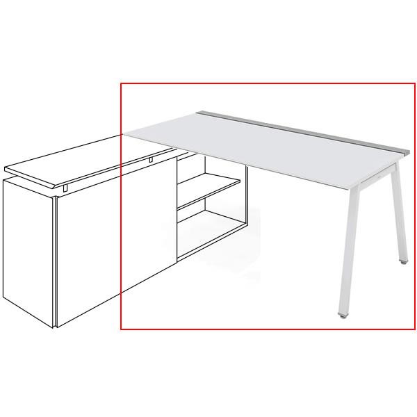 コクヨ SAIBI-TX(サイビティーエックス) テーブル部分 R側 木目天板 幅1600×奥行700mm 【収納脚別売り】【SD-TER167V】