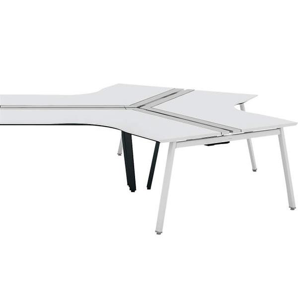 コクヨ SAIBI-TX(サイビティーエックス) 120度ワークベンチ エンド用 木目天板 幅1200×奥行1200mm【SD-TZE1212V】