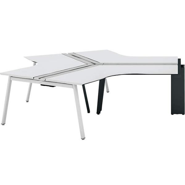 コクヨ SAIBI-TX(サイビティーエックス) 120度ワークベンチ スタート用 木目天板 幅1200×奥行1200mm【SD-TZS1212V】