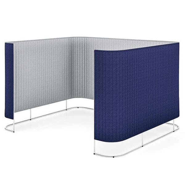 コクヨ inframe(インフレーム) ミーティングブース/チェアースクリーンブース 4~6人用 高さ1650mm ※受注生産品【SN-TC616N】