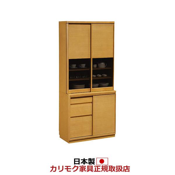 カリモク 食器棚 幅866mm 高さ1936mm【ET3410】
