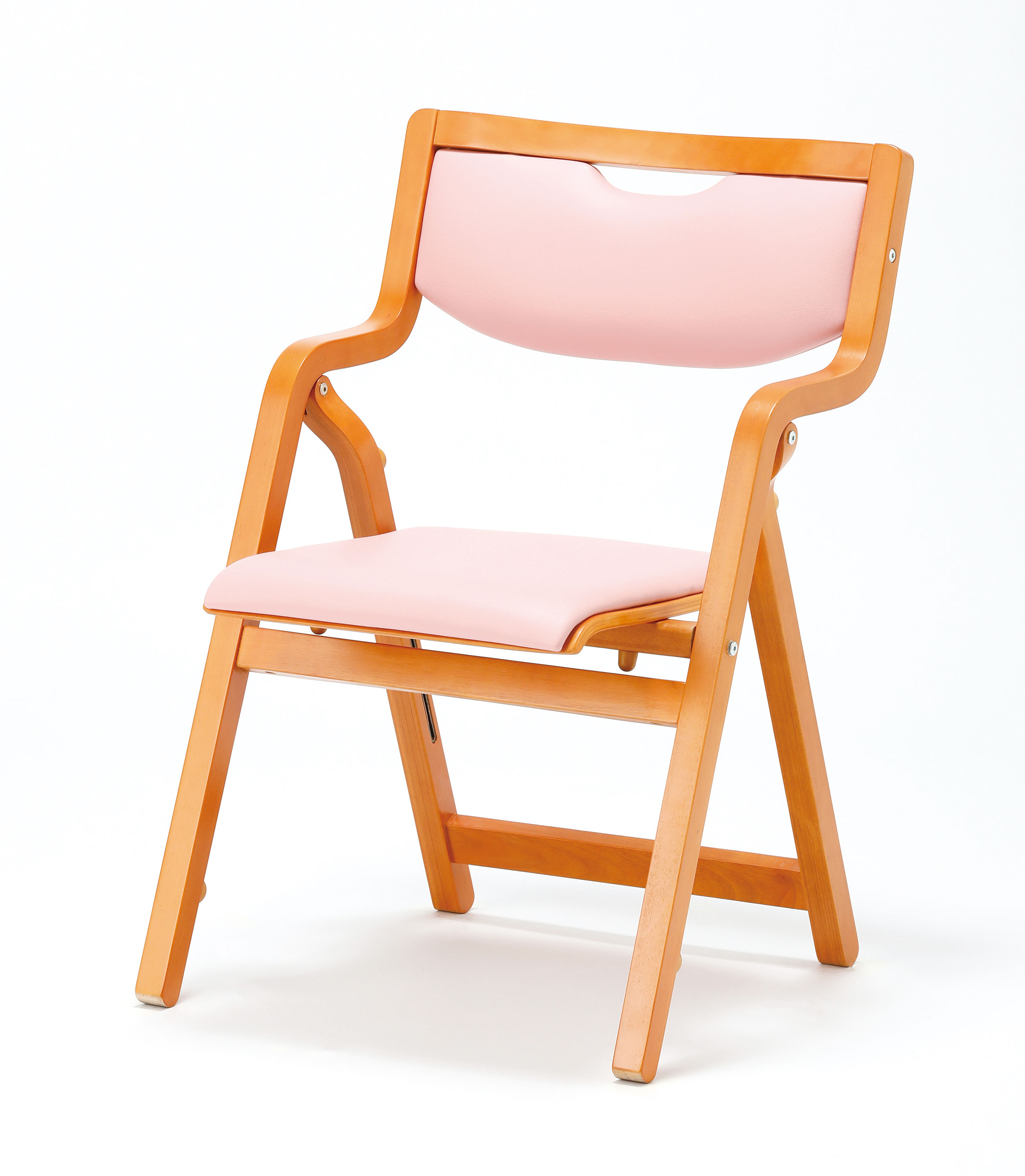 【2脚セット】折り畳み椅子 スタッキングタイプ(角背)【ビニールレザー張り】【MW-300-VG1-2SET】