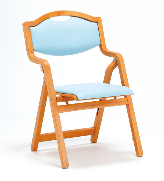 【2脚セット】折り畳み椅子 スタッキングタイプ(丸背)【ビニールレザー張り】【MW-305-VG1-2SET】